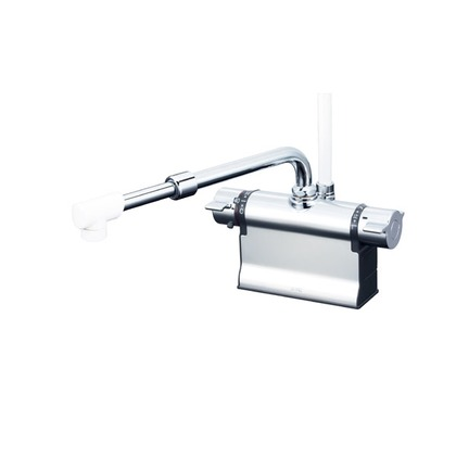 KVK デッキ形サーモスタット式シャワー(伸縮自在パイプ付)(寒冷地用) KF3011ZTSJ 混合水栓