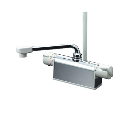 KVK デッキ形サーモスタット式シャワー300mmパイプ付 KF771YR3 混合水栓