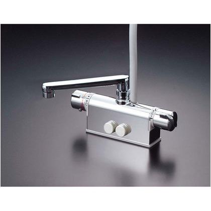 KVK デッキ形サーモスタット式シャワー(取付ピッチ85mmタイプ)(寒冷地用) KF771ZNT 混合水栓