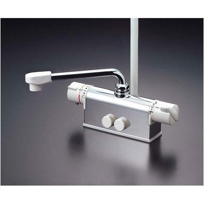 KVK デッキ形サーモスタット式シャワー(取付ピッチ120mmタイプ)(寒冷地用) KF771ZY 混合水栓