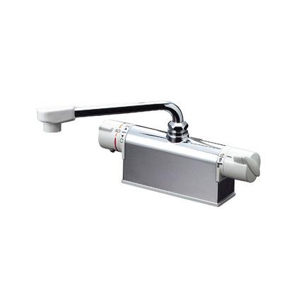 KVK デッキ形サーモスタット式混合栓(取付ピッチ100mm) KM771 混合水栓