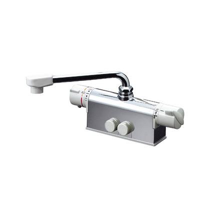KVK デッキ形サーモスタット式混合栓(取付ピッチ100mm)(寒冷地用) KM771Z 混合水栓
