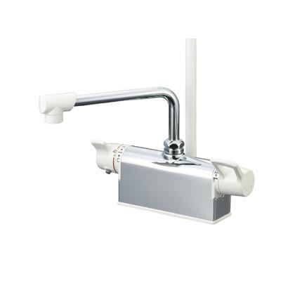 KVK デッキ形サーモスタット式シャワー(取付ピッチ100mm) KF781 混合水栓