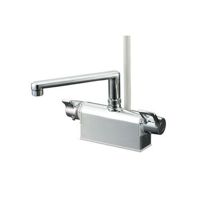KVK デッキ形サーモスタット式シャワー(取付ピッチ100mm) KF781T 混合水栓