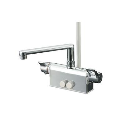 KVK デッキ形サーモスタット式シャワー(取付ピッチ100mm)(寒冷地用) KF781ZT 混合水栓