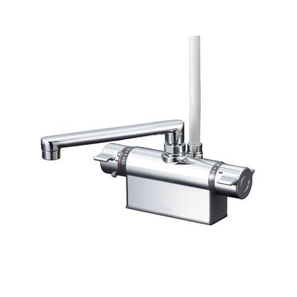 世界有名な ONLINE KF801ZT FACTORY SHOP デッキ形サーモスタット式シャワー(取付ピッチ100mm)(寒冷地用) KVK 混合水栓:DIY-木材・建築資材・設備