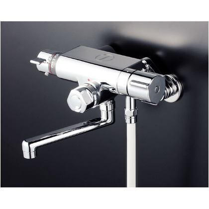 KVK 定量止水付サーモスタット式シャワー240mmパイプ付(寒冷地用) KF159WTR2 混合水栓