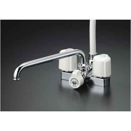 KVK デッキ形2ハンドルシャワー300mmパイプ付 KF12ER3 混合水栓