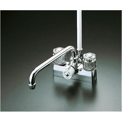KVK デッキ形一時止水付2ハンドルシャワー(取付ピッチ100mm) KF205 混合水栓