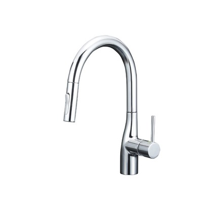 KVK グースネックシングルレバー式シャワー付混合栓(eレバー) KM6061EC キッチン