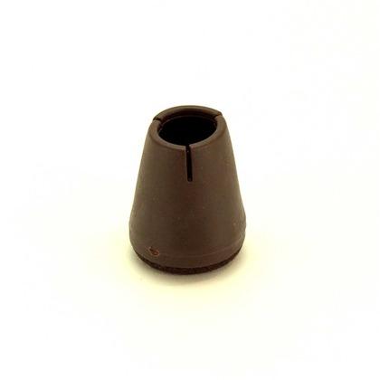 和気産業 ワイドフェルトキャップスリム 濃茶 18-23mm BC-722 1個