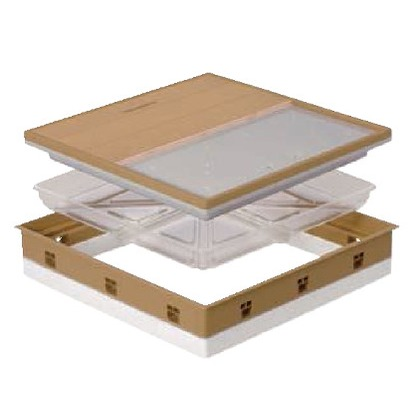 JOTO 高気密型床下点検口 ミディアムブラウン 606mm×606mm SPF-R60F12-UA1 床下点検口
