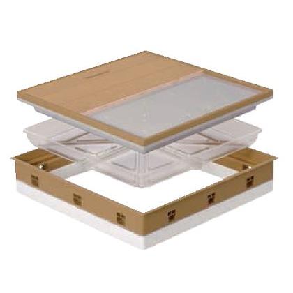 JOTO 高気密型床下点検口 ブラックブラウン 606mm×606mm SPF-R60F12-UA1 床下点検口
