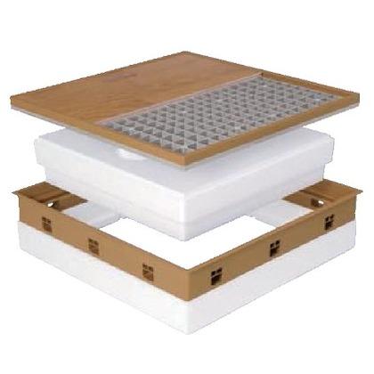 JOTO 高気密型床下点検口 ダークブラウン 606mm×606mm SPF-R60F15-BL2 床下点検口