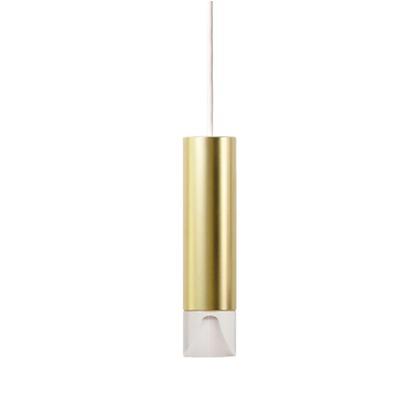 MotoM(モトム) LED円筒ペンダントライト(引掛けシーリング) ゴールド 直径5.5×高さ22.8cm MPN06-GO