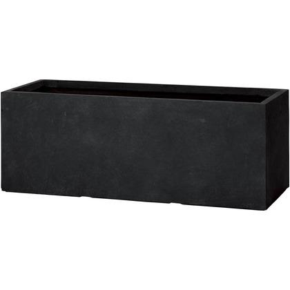 ユニソン ラムダ スリム長角プランター L ブラック 1000(内寸950)×370×370(内寸320)mm 652412130 1個