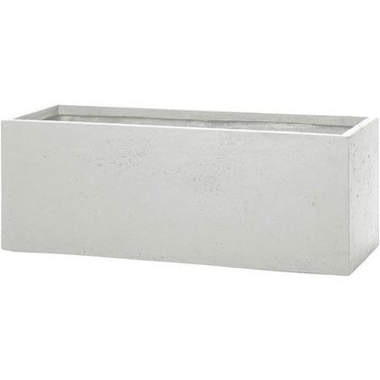 ユニソン ラムダ スリム長角プランター M ホワイト 800(内寸755)×300×300(内寸245)mm 652412210 1個