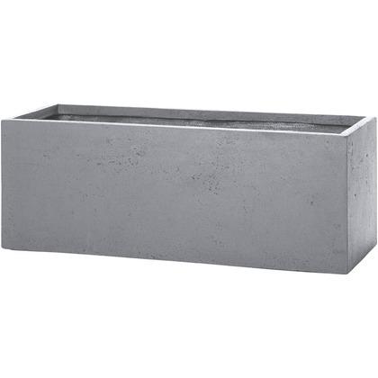 ユニソン ラムダ スリム長角プランター M グレー 800(内寸755)×300×300(内寸245)mm 652412220 1個