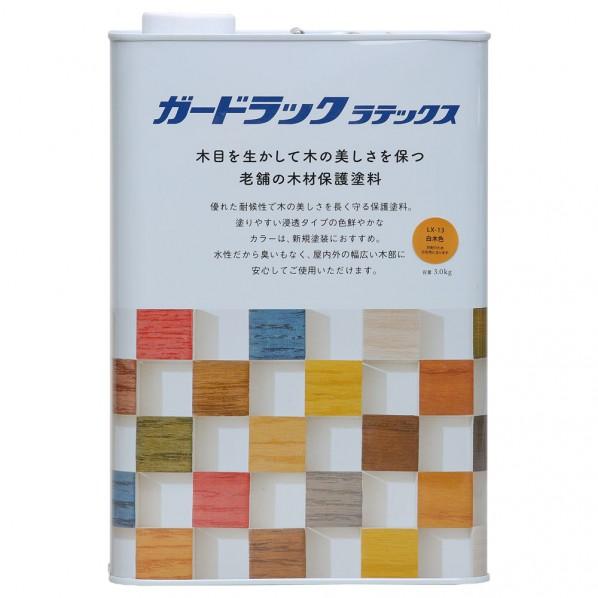 和信ペイント ガードラックラテックス 白木色 3.0kg 800468