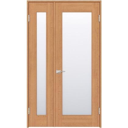 住友林業クレスト 内装親子ドア 1枚ガラス ベリッシュチェリー柄 枠外W1190×枠外H2032 DBACK25SCA17JS4AR 内装建具 1セット