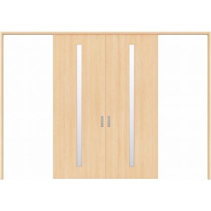 住友林業クレスト 長尺引き戸 スリット1枚ガラス縦目 ベリッシュメイプル柄 枠外W3259×枠外H2032 HBATK02HAMA257JS3 内装建具 1セット
