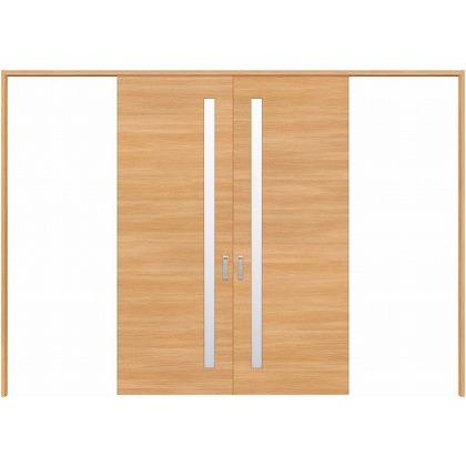 住友林業クレスト 長尺引き戸 サイドスリット1枚ガラス横目 ベリッシュオーク柄 枠外W3259×枠外H2032 HBATK05HAAA257JS3 内装建具 1セット