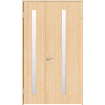 住友林業クレスト 内装親子ドア スリット1枚ガラス縦目 ベリッシュメイプル柄 枠外W1190×枠外H2300 DBACK02SM818JS4AL 内装建具 1セット