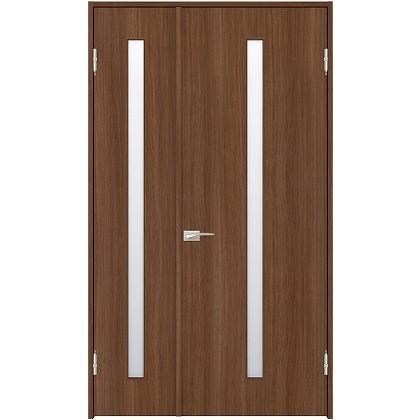 住友林業クレスト 内装親子ドア スリット1枚ガラス縦目 ベリッシュウォルナット柄 枠外W1190×枠外H2300 DBACK02SU818JS4AL 内装建具 1セット