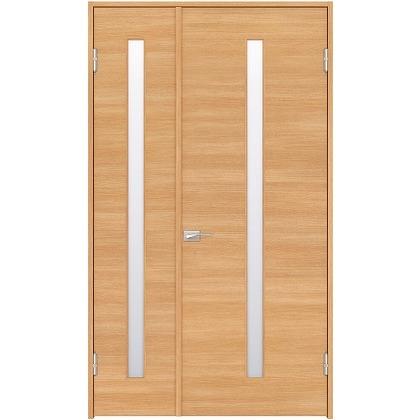 住友林業クレスト 内装親子ドア スリット1枚ガラス横目 ベリッシュオーク柄 枠外W1190×枠外H2300 DBACK03SAB18JS4AR 内装建具 1セット