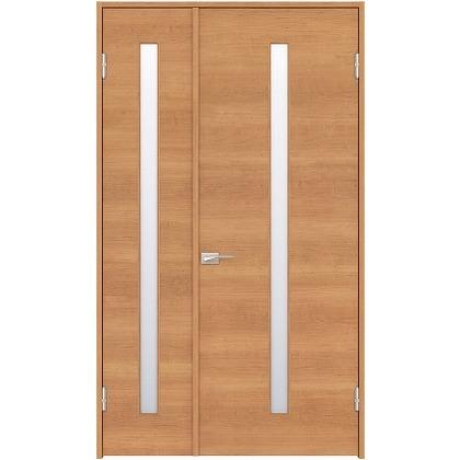 住友林業クレスト 内装親子ドア スリット1枚ガラス横目 ベリッシュチェリー柄 枠外W1190×枠外H2300 DBACK03SCE18JS4AR 内装建具 1セット