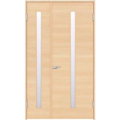 住友林業クレスト 内装親子ドア スリット1枚ガラス横目 ベリッシュメイプル柄 枠外W1190×枠外H2300 DBACK03SM718JS4AR 内装建具 1セット