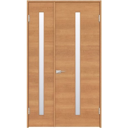 住友林業クレスト 内装親子ドア スリット1枚ガラス横目 ベリッシュチェリー柄 枠外W1190×枠外H2300 DBACK03SC718JS4AR 内装建具 1セット