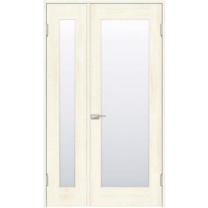 住友林業クレスト 内装親子ドア 1枚ガラス ベリッシュホワイト柄 枠外W1190×枠外H2032 DBACK25SW817JS4AR 内装建具 1セット