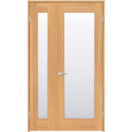 住友林業クレスト 内装親子ドア 1枚ガラス ベリッシュオーク柄 枠外W1190×枠外H2032 DBACK25SA717JS4AR 内装建具 1セット