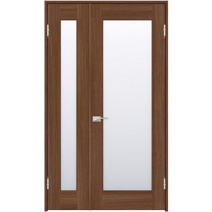 住友林業クレスト 内装親子ドア 1枚ガラス ベリッシュウォルナット柄 枠外W1190×枠外H2032 DBACK25SU717JS4AR 内装建具 1セット