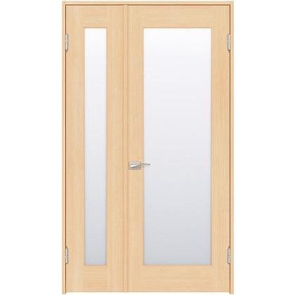住友林業クレスト 内装親子ドア 1枚ガラス ベリッシュメイプル柄 枠外W1190×枠外H2032 DBACK25SM517JS4AL 内装建具 1セット