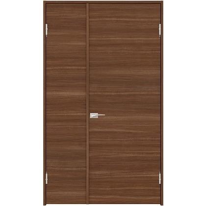 住友林業クレスト 内装親子ドア フラットパネル横目 ベリッシュウォルナット柄 枠外W1190×枠外H2032 DBACK01SUE17JS4AL 内装建具 1セット