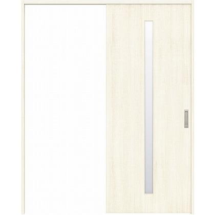 住友林業クレスト 引き戸 スリット1枚ガラス縦目 ベリッシュホワイト柄 枠外W1463×枠外H2300 HBAUK02HAWD48J1S3R 内装建具 1セット