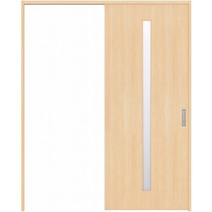 住友林業クレスト 引き戸 スリット1枚ガラス縦目 ベリッシュメイプル柄 枠外W1463×枠外H2300 HBAUK02HAMD48J1S3R 内装建具 1セット