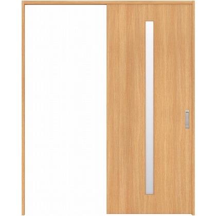 住友林業クレスト 引き戸 スリット1枚ガラス縦目 ベリッシュオーク柄 枠外W1645×枠外H2300 HBAUK02HAA868J1S3L 内装建具 1セット