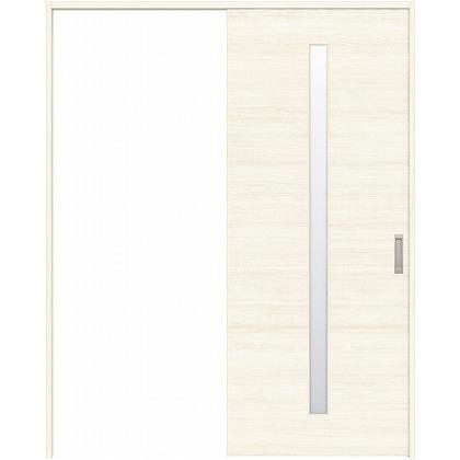 住友林業クレスト 引き戸 スリット1枚ガラス横目 ベリッシュホワイト柄 枠外W1463×枠外H2032 HBATK03HAW847J1S3R 内装建具 1セット