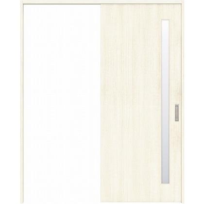 住友林業クレスト 引き戸 サイドスリット1枚ガラス縦目 ベリッシュホワイト柄 枠外W1463×枠外H2300 HBAUK04HAWA48J1S3L 内装建具 1セット