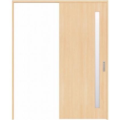住友林業クレスト 引き戸 サイドスリット1枚ガラス縦目 ベリッシュメイプル柄 枠外W1463×枠外H2300 HBAUK04HAMB48J1S3L 内装建具 1セット