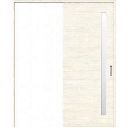 住友林業クレスト 引き戸 サイドスリット1枚ガラス横目 ベリッシュホワイト柄 枠外W1645×枠外H2032 HBATK05HAW767J1S3R 内装建具 1セット