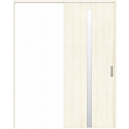 住友林業クレスト 引き戸 センタースリットガラス縦目 ベリッシュホワイト柄 枠外W1463×枠外H2032 HBAUK08HAWC47J1S3L 内装建具 1セット