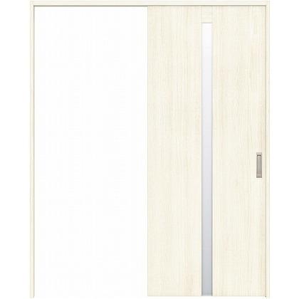 住友林業クレスト 引き戸 センタースリットガラス縦目 ベリッシュホワイト柄 枠外W1463×枠外H2300 HBAUK08HAW848J1S3L 内装建具 1セット