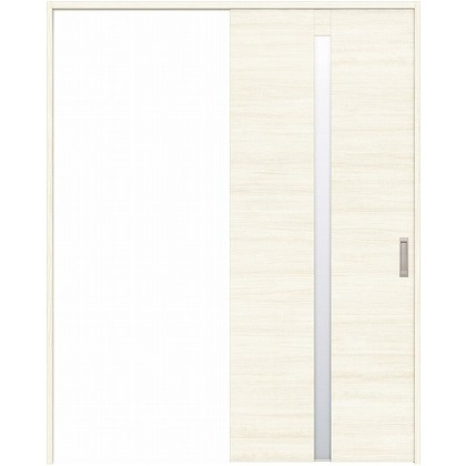 住友林業クレスト 引き戸 センタースリットガラス横目 ベリッシュホワイト柄 枠外W1645×枠外H2300 HBATK09HAWB68J1S3R 内装建具 1セット