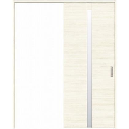 住友林業クレスト 引き戸 センタースリットガラス横目 ベリッシュホワイト柄 枠外W1463×枠外H2300 HBAUK09HAWB48J1S3L 内装建具 1セット