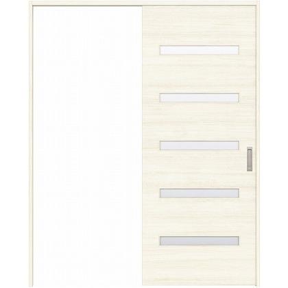 住友林業クレスト 引き戸 横ガラス ベリッシュホワイト柄 枠外W1463×枠外H2300 HBATK14HAWC48J1S3L 内装建具 1セット