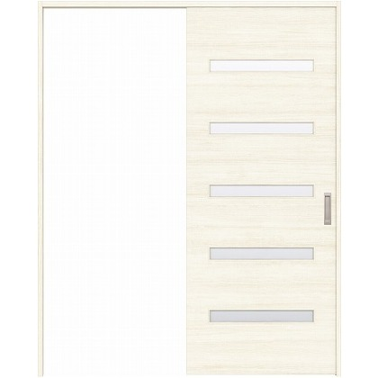 住友林業クレスト 引き戸 横ガラス ベリッシュホワイト柄 枠外W1645×枠外H2300 HBATK14HAW768J1S3R 内装建具 1セット